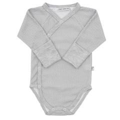 Celorozepínací body dl. rukáv s rukavičkami Hvězdičky šedá Baby Service