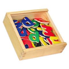 Magnetky písmena dřevěná 57ks