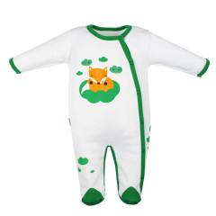 Kojenecký bavlněný overal New Baby Liška zelená