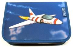 Herlitz jednopatrový penál 1 chlopeň Moti vybavený Letadlo