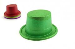 Karnevalový klobouk/cylindr se třpytkami 6 barev