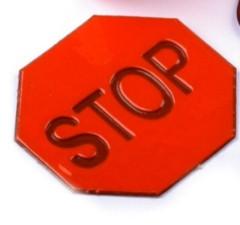 Reflexní samolepka STOP