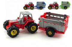 Traktor s přívěsem plast 51cm