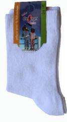 Dětské ponožky bílé vel. 5 (26-28)