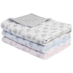Jarní dětská deka dvojitá plyš medvídek Esito