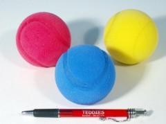 Soft míč na softtenis pěnový průměr 7 cm 3 ks