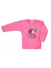 Kojenecká košilka Bobas Fashion Ježek růžová