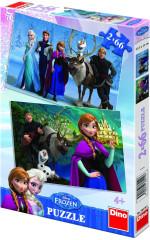 Puzzle Ledové království Frozen 32,3x22cm 2x66 dílků