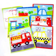 Meadow Puzzle do vany Dopravní prostředky