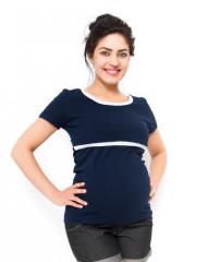 Těhotenské a kojící triko Aldona - Granát
