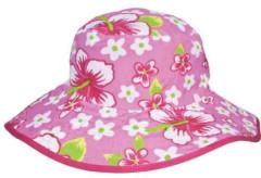 Dětský UV klobouček Baby Banz hawaii růžový oboustranný 2 - 5 let