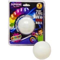 Skákající míček 5,5cm na baterie svítící na kartě