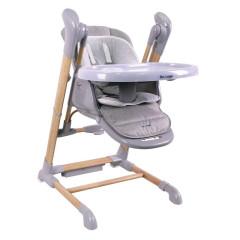 Bo Jungle jídelní židlička B-SWINGING CHAIR Wood Grey