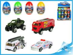 Vajíčko s překvapením 4 barvy - kovové autíčko