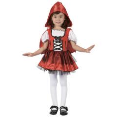 Karnevalový kostým DÍVKA V ČERVENÉM, Vel. 92-104 cm