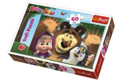 Puzzle Máša a Medvěd 60 dílků 33x22 cm
