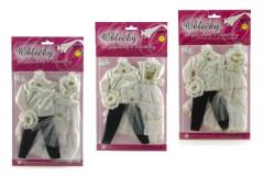 Svatební oblečky na panenky a panáčky velké a podobné jako je Barbie 2 ks