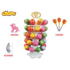 Cosby vajíčko 8cm s překvapením -  hračka, lízátko a samolepka