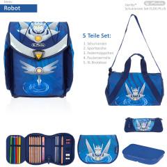 Školní taška set Herlitz Flexi Robot