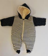 Zimní kombinéza zateplená pruh TM. MODRÁ wellsoft Baby Service