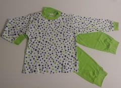 Bavlněné pyžamo zelený puntík vel. 98
