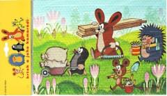 Pěnové puzzle Krteček 12 dílků Zajíc se dřevem