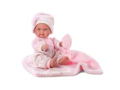 Panenka - New born holčička Llorens 26 cm gumové tělo