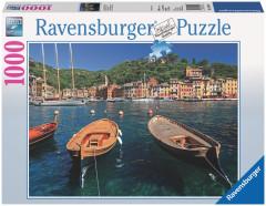 Puzzle Ravensburger - Přístav v Portofino, Itálie - 1000 dílků