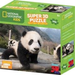 Puzzle Panda 100 dílků 3D
