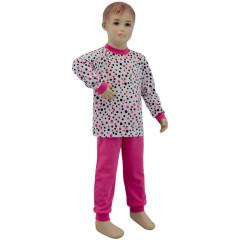 Bavlněné pyžamo růžový puntík Esito Vel. 92 - 122