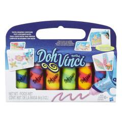 Play Doh Dohvinci balení 6 náhradních tub třpytivé barvy