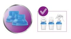 Nástavec - trychtýř k odsávačce Avent - redukce na Via pohárky nebo lahvičky