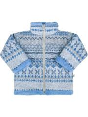 Zimní kojenecký kabátek se stojáčkem Baby Service Etnik zima modrý