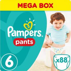 Kalhotky plenkové ActivePants 6 EXTRA LARGE 16 + kg 88ks Pampers