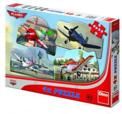 Puzzle 4x54 dílků Letadla