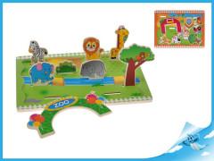 Hrací set zvířátka dřevěný 3D 30x22,5cm 12m+