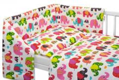 Souprava třídílná Baby Nellys Růžový Sloník 120 x 90 cm