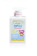 Sprchový gel a šampon SWEETNESS 300ml Jack N´ Jill NATURAL BATHTIME