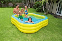 Bazén čtverec 229 x 229 x 56 cm Intex 57495