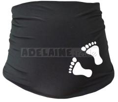 Těhotenský pás s nožičkami - černý