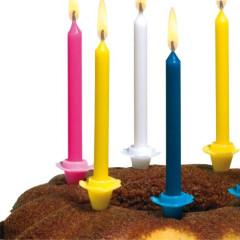 Dortové narozeninové svíčky se stojánky