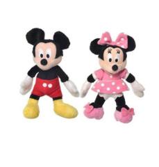 Mickey Mouse a Minnie plyšoví 12cm, 0m+