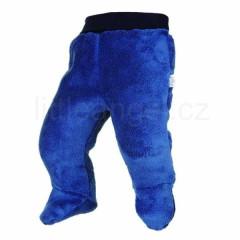 Kalhoty s ťapkami MAZLÍK TMAVĚ MODRÁ