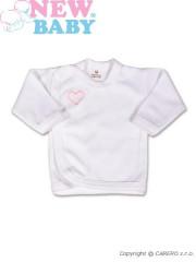 Kojenecká košilka New Baby Classic v růžovým lemem a výšivkou vel. 56