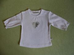 Bavlněná mikinka bílá puntík a sloník Babyservice vel. 56