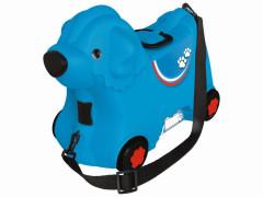 Kufřík odstrkovadlo pejsek modrý s kolečky BIG