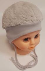 Zimní čepička wellsoft Baby Service Šedá
