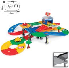 Kid Cars 3D Garáž s dráhou 5,5m Wader 53130