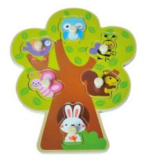 Dřevěné puzzle stromeček