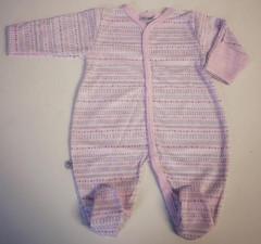 Overálek celorozepínací LLLL Růžový Baby Service